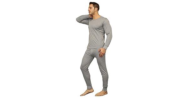 b27951385cb6 Men's Soft 100% Cotton Thermal Underwear Long Johns Sets - Waffle - Fleece  Lined (Medium, Fleece Lined - Heather Grey)