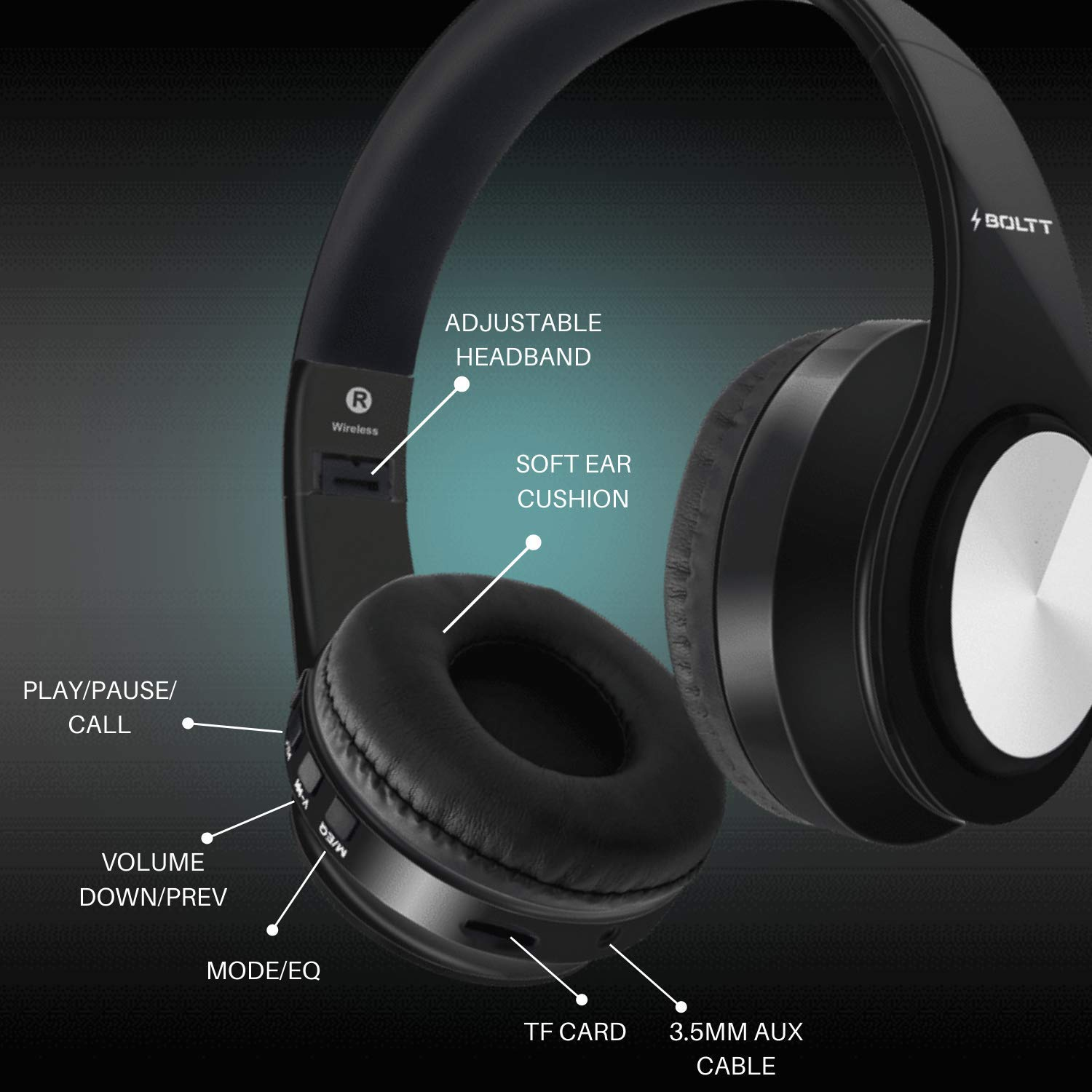 Best Fire Boltt Blast 1000 Hi Fi Stereo Over Ear Bluetooth Headphones With Foldable Earmuffs 20 Hours Playtime Built In Mic Best Price With Best Deal In Your City