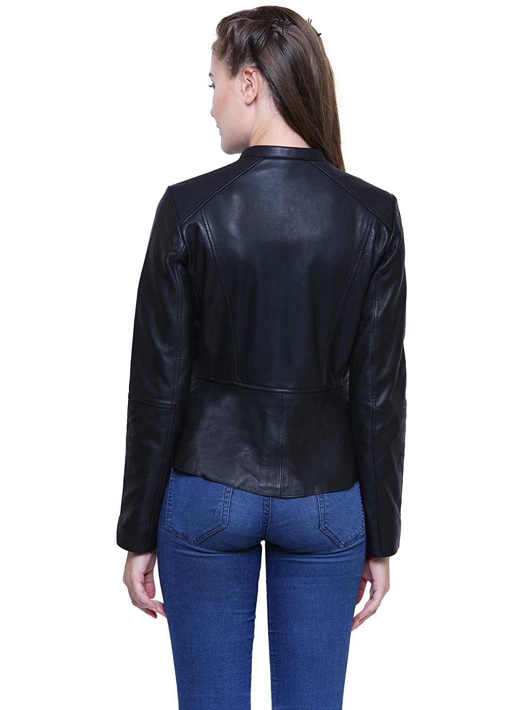 Albapelle Womens Lambskin Leather Jacket