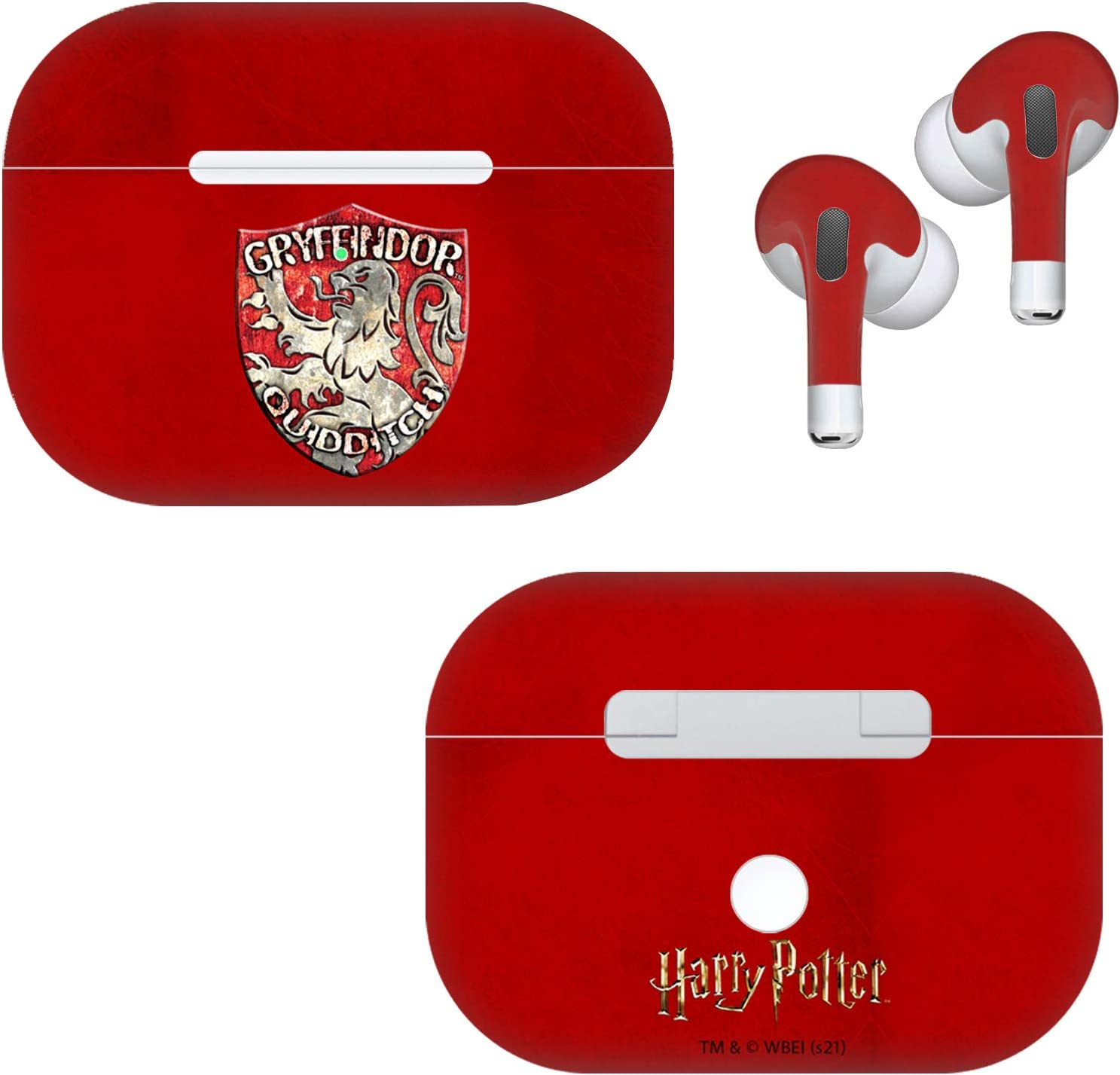Head Case Designs Officially Licensed Harry Potter Gryffindor Quidditch Badge Prisoner of Azkaban V Vinyl Sticker Skin Decal Cover Compatible with AirPods Pro