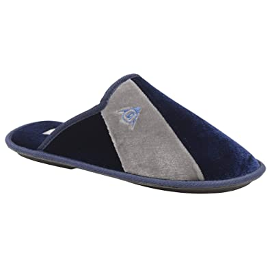 358825d031045 Dunlop Dunkirk Mens Mule Slippers Navy: Amazon.co.uk: Shoes & Bags