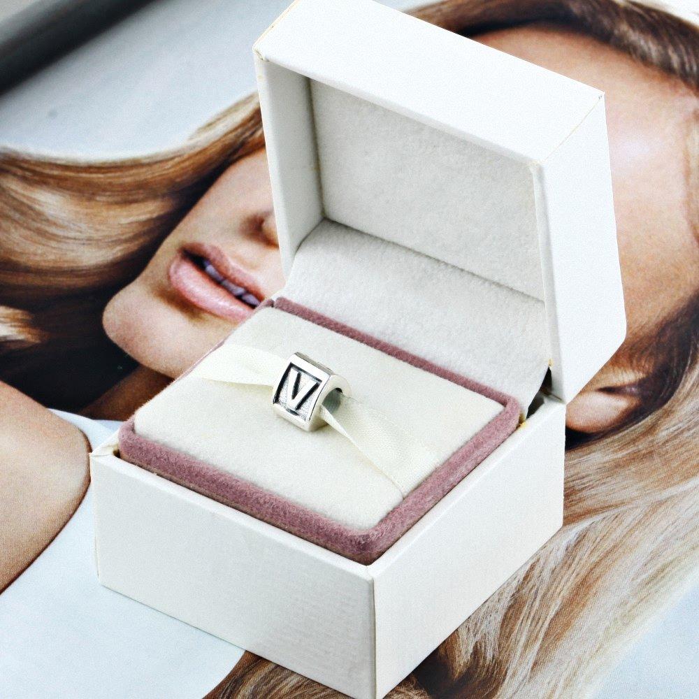 CHANGEABLE Charms et Perles pour Femme Argent 925 Lettre A Z