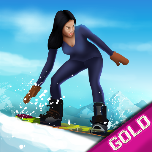 Snowboard Winter Downhill Mountain Sport : The cold snow race - Gold Edition