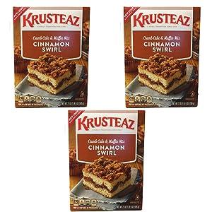Krusteaz Cinnamon Swirl Crumb Cake & Muffin Mix, 21 OZ