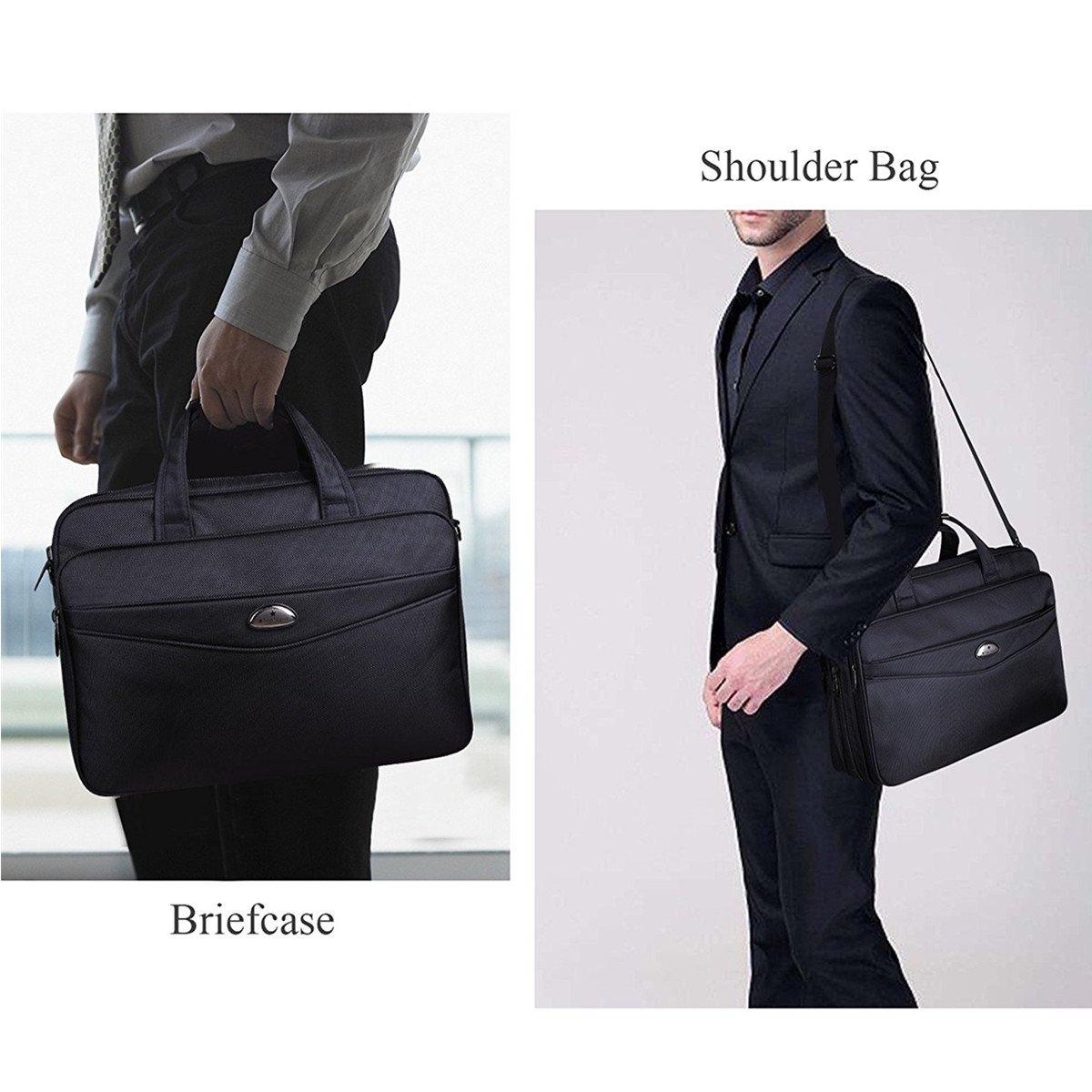 Briefcase 15.6 Inch Laptop Bag Laptop Messenger Bag, Business Office Bag Multifunctional Laptop Case Shoulder Bags for Men Women Fit for 15'' 15.6 Inch Acer HP Dell Lenovo Computer Notebook MacBook by Top Super (Image #7)