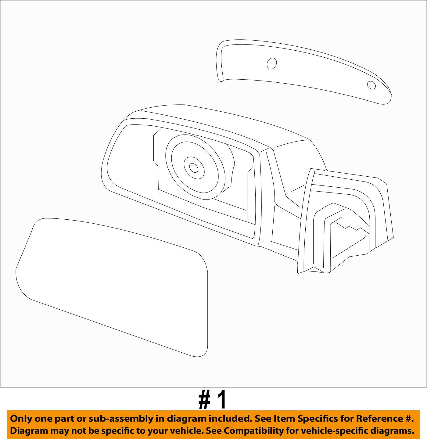 Exterior Right Genuine Hyundai 87610-1R230 Rear View Mirror Assembly