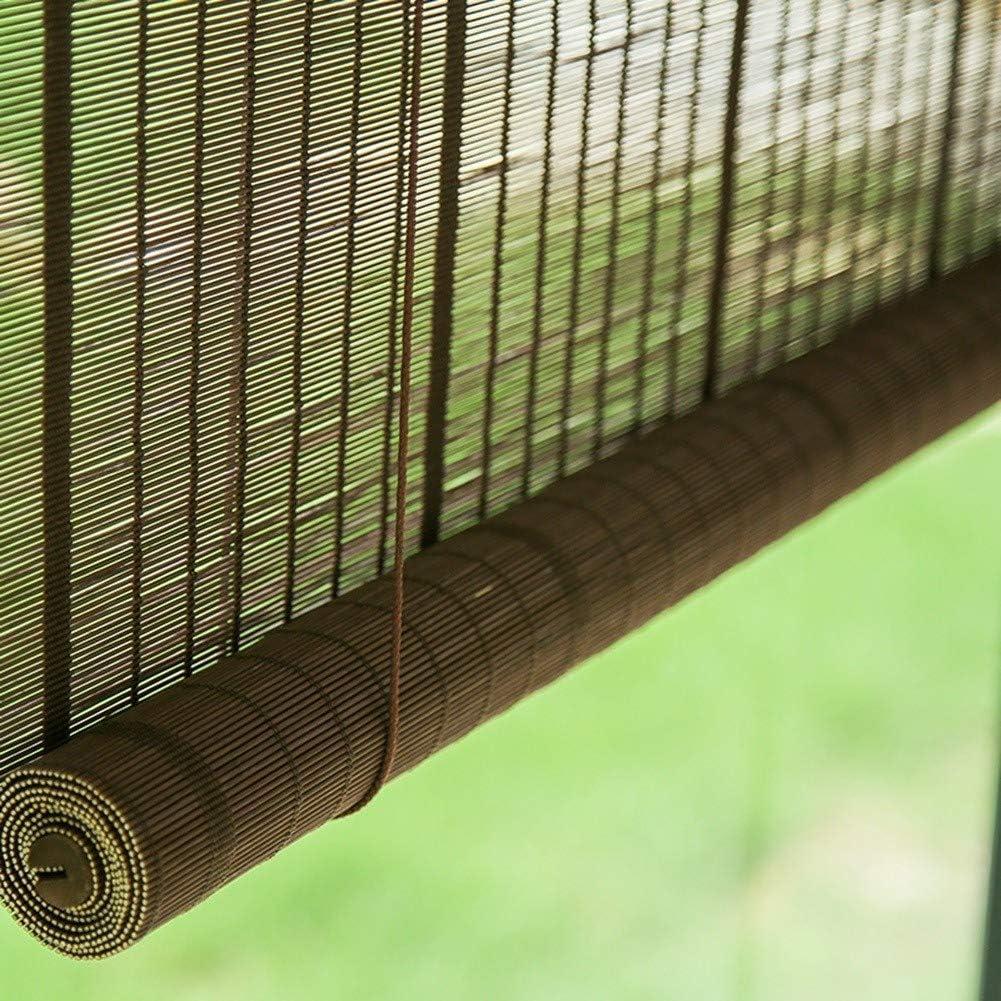 LXLA Persianas Enrollables de Exterior/Exterior de Madera, Toldos de Jardín con Pérgola en El Patio, Toldo de Estudio Interior, Persianas para Balcón, Bambú Natural (Size : W120cm X H180cm): Amazon.es: Hogar