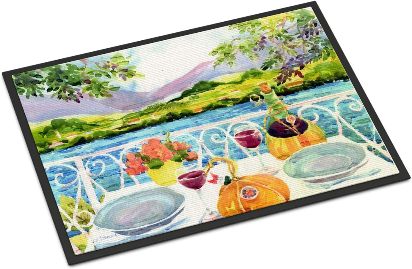 Caroline s Treasures 6139JMAT Afternoon of Grape Delights Wine Indoor or Outdoor Mat 24×36, 24H X 36W, Multicolor