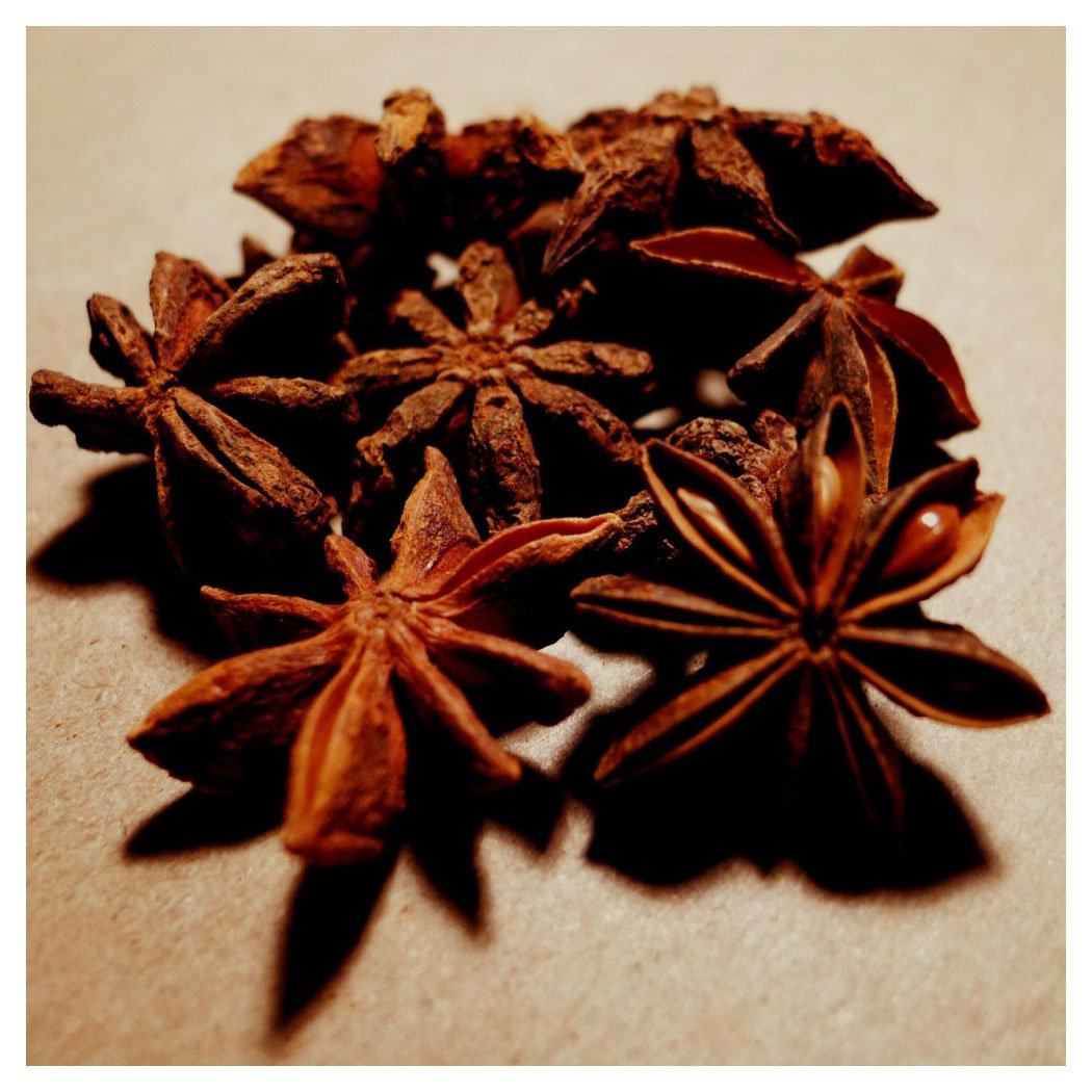 Anise, Star - 8 oz Pouch by Spices For Less (Image #1)