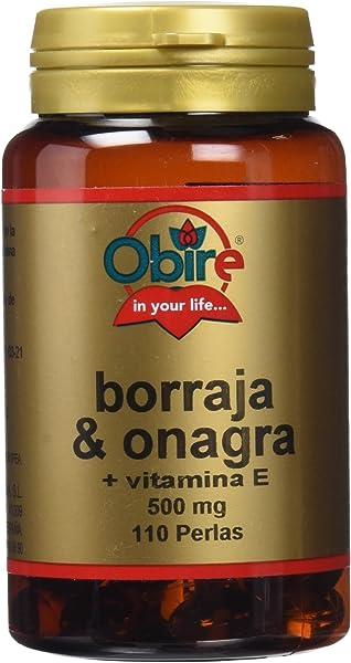 Borraja & onagra 500 mg. 110 perlas con vitamina E: Amazon ...