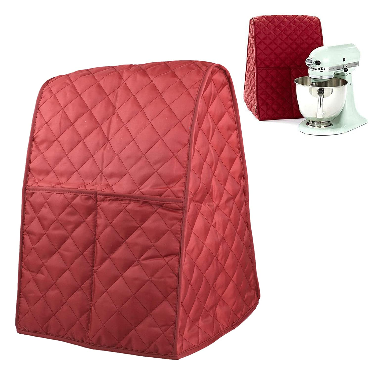 Mixer Cover, EEEKit Universal Dust-Proof Stand Mixer Cover Quilted Pocket Organizer Bag Mat Case for Home, Kitchen Kitchenaid, Sunbeam, Cuisinart, Hamilton Mixer