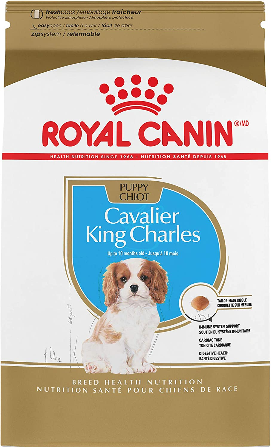 Royal Canin Cavalier King Charles Spaniel Puppy Breed Specific Dry Dog Food, 3 lb. bag
