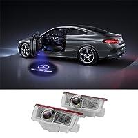 Logo LED tür Auto, FlexDin türprojektoren autotür Logo Projektion LED, türbeleuchtung und Einstiegsbeleuchtung mit Logo für Benz W205 C-Klasse W212 E-Klasse GLC usw - 2 Stück