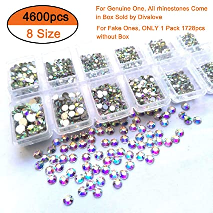 Image Unavailable. Image not available for. Color  Queenme 4600pcs Nail  Crystals Flatback Rhinestones for Nails Mix Size ... 83992c8ecf4f