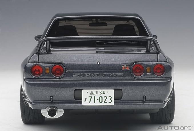 AUTOart - Skyline GT R Wangan Midnight Nissan vehículo en Miniatura, 77411, Gris Metal, (Escala 1/18: Amazon.es: Juguetes y juegos