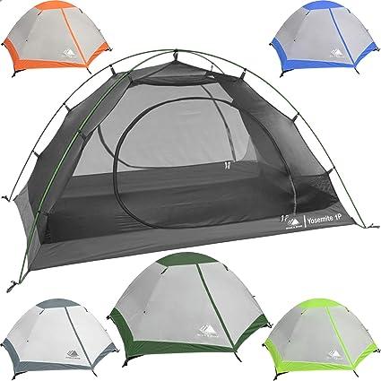 71eb07aeac Hyke & Byke 1 Person Backpacking Tent with Footprint - Lightweight Yosemite  One Man 3 Season