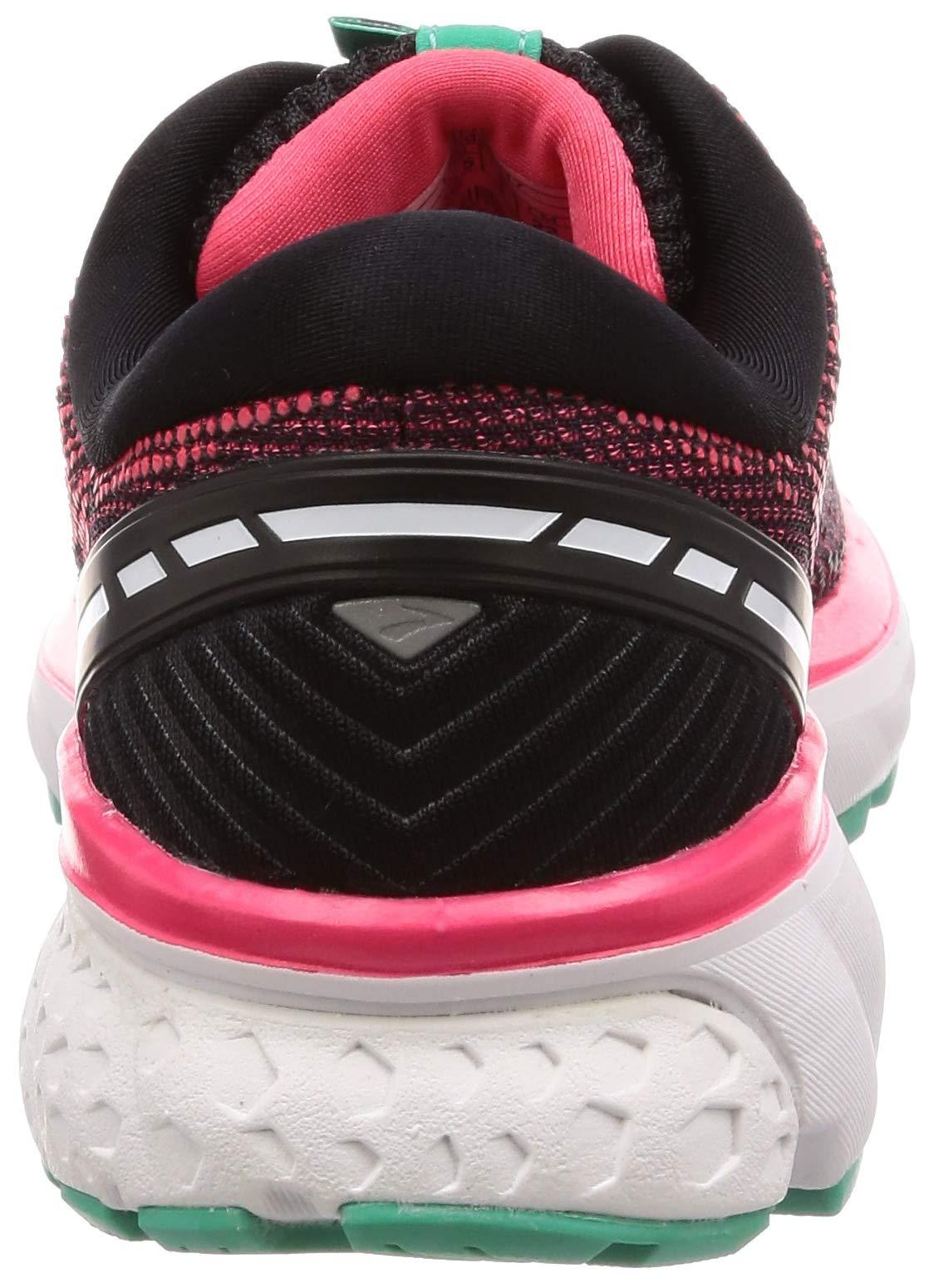 Brooks Womens Ghost 11 Running Shoe - Black/Pink/Aqua - D - 5.0 by Brooks (Image #2)