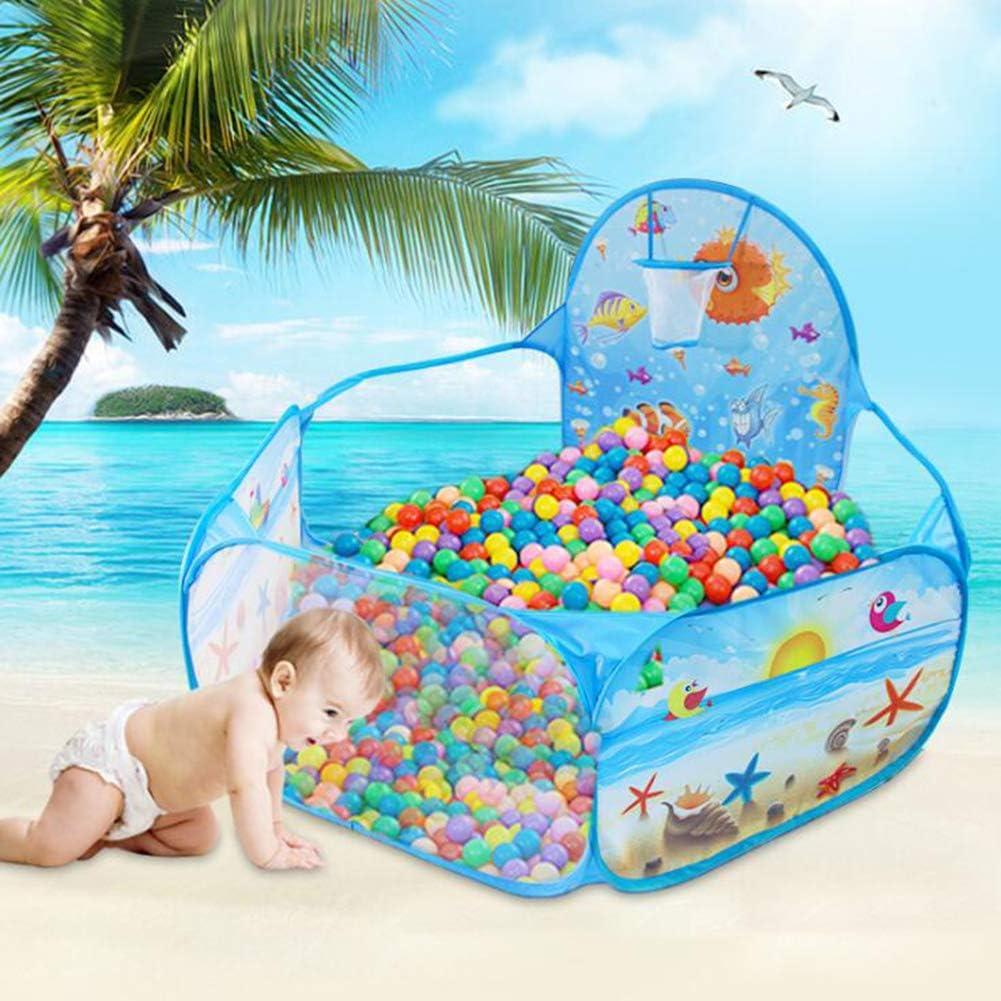 SYOSY Piscina de Bolas : Piscina Infantil : Piscina Bolas para Parque Infantil : Piscina Bolas Bebe : Parque de Bolas : Mini Canasta Baloncesto Habitación,Azul