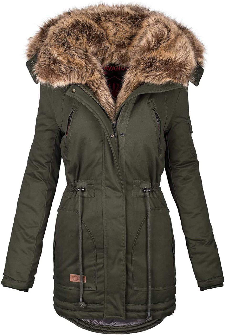 Navahoo Damen Winter Jacke Mantel Parka warm gef/ütterte Winterjacke B383
