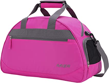 super quality factory price best supplier MIER 20 Inches Sports Gym Bag Travel Duffel Bag with Shoes Compartment for  Women and Men (Pink)