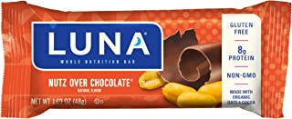 product image for Clif Bar LUNA BAR, Gluten Free, Nutz Over Chocolate Flavor, 1.69 Ounce Snack Bars, 15 Count