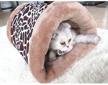 LA VIE 2 en 1 Casa y Sofá para Mascotas Saco de Dormir de Gato Colchoneta