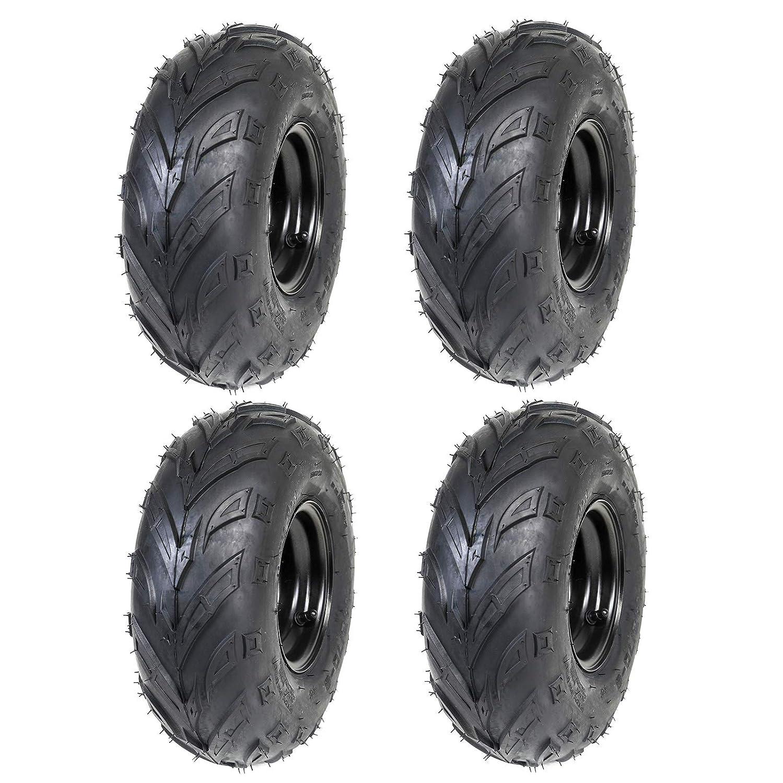 Amazon Com Zxtdr Set Of Four 145 70 6 14x6 6 Atv Tires Wheels With