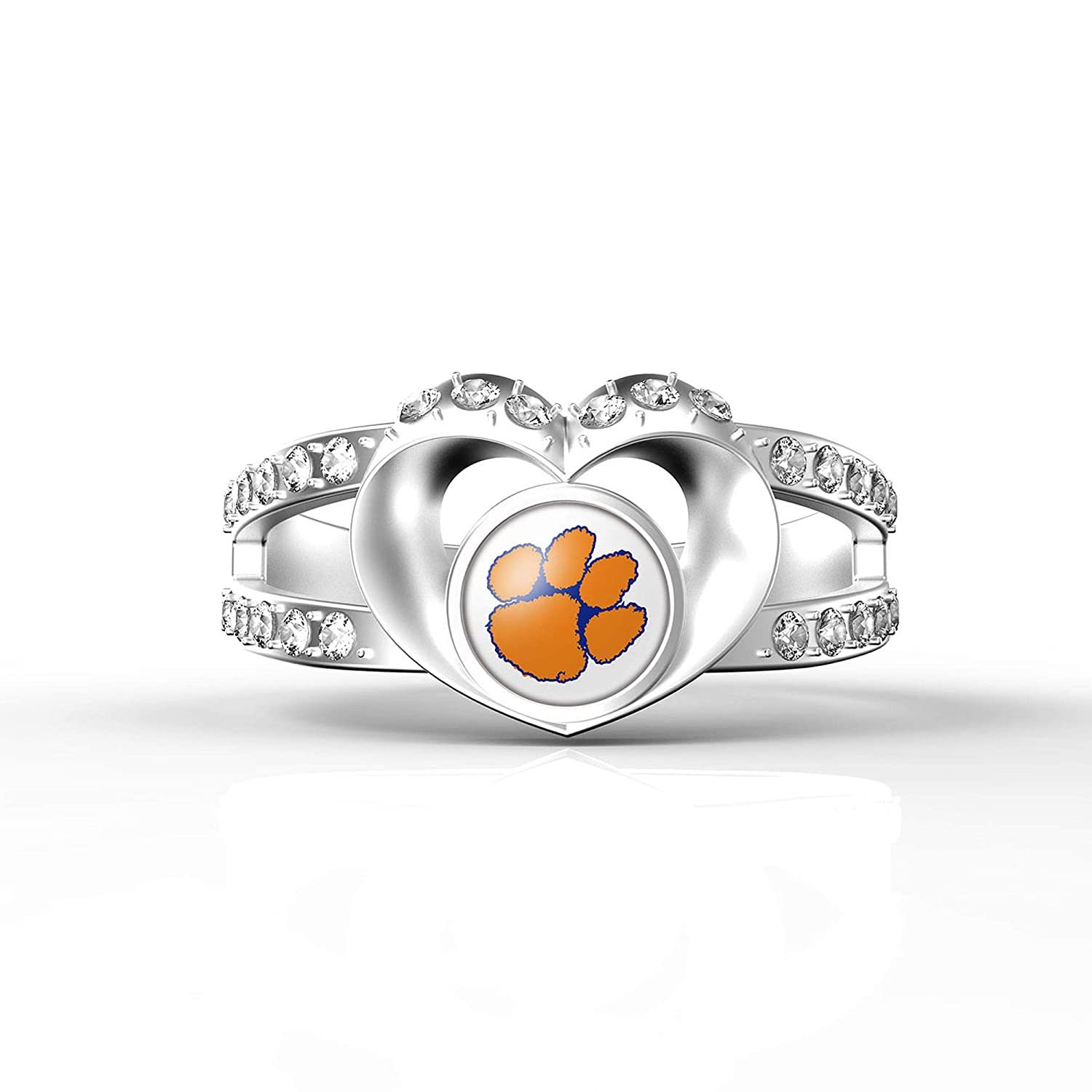 MT Sports store NCAA Heart Shaped Lady Ring Lady Exquisite Heart Shaped Ring