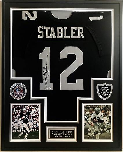 brand new ec156 94772 Ken Stabler #12 Raiders Mvp 74 Autographed Signed Framed ...