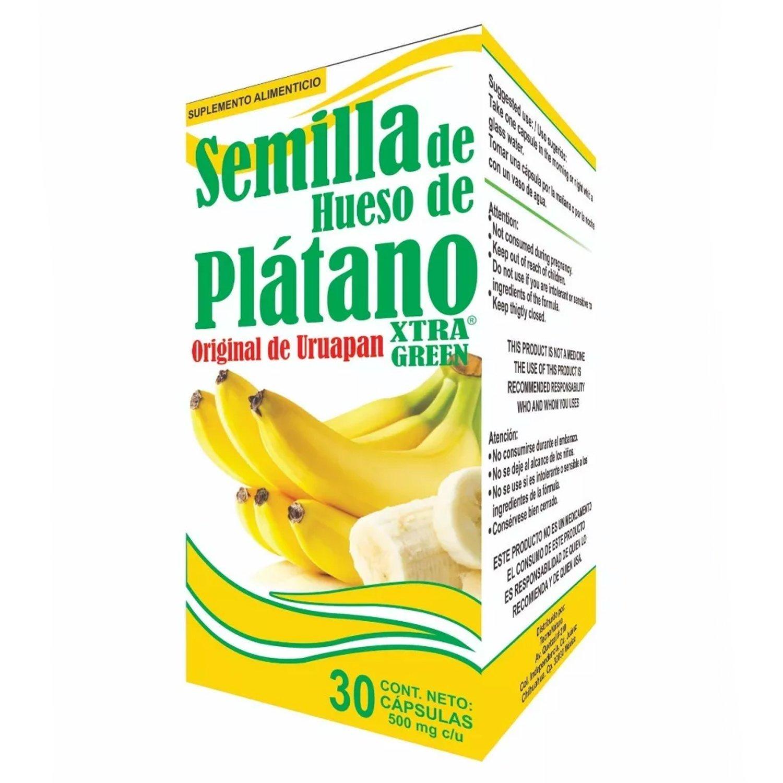 Amazon.com: Semilla de Hueso de Platano - Original de Uruapan, CADA Bote Con 30 cápsulas de 500 mg CADA UNA: Health & Personal Care