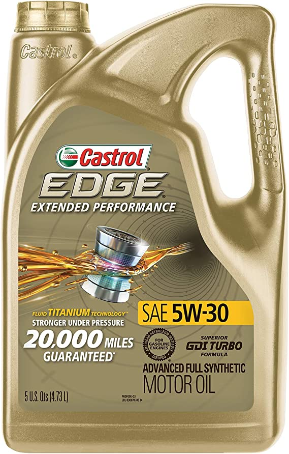 Castrol 03087 EDGE Extended Performance 5W-30 Advanced Full Synthetic Motor Oil