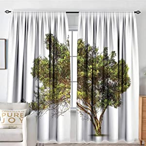 """NUOMANAN Curtain Panels,Set of 2 Tree,Ancient Tree with Wide Branches Growth Forest Jungle Woods Garden Framework Print,Green Brown,Modern Farmhouse Country Curtains 100""""x96"""""""