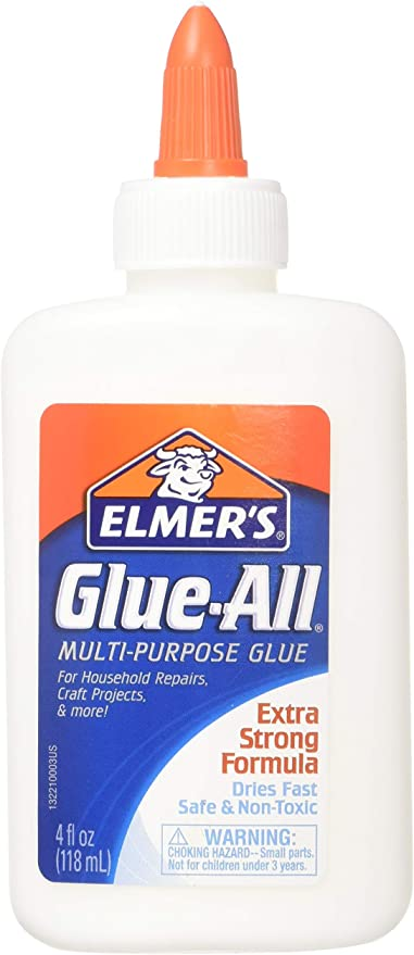Pack Of 2 PVA glue White School Glue Ideal for all Crafts Cloth Wood Etc