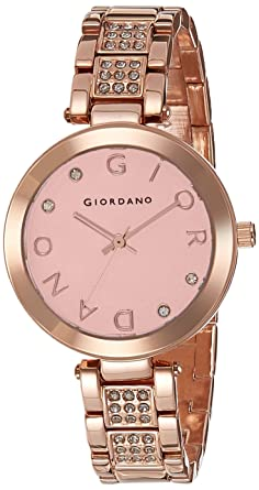 Giordano Analog Rose Gold Dial Women's Watch - A2040-22 Women at amazon