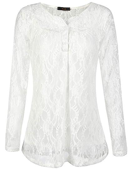 Line Lace Tunic White