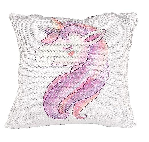 Funda de almohada de unicornio Casofu con diseño de sirena y ...
