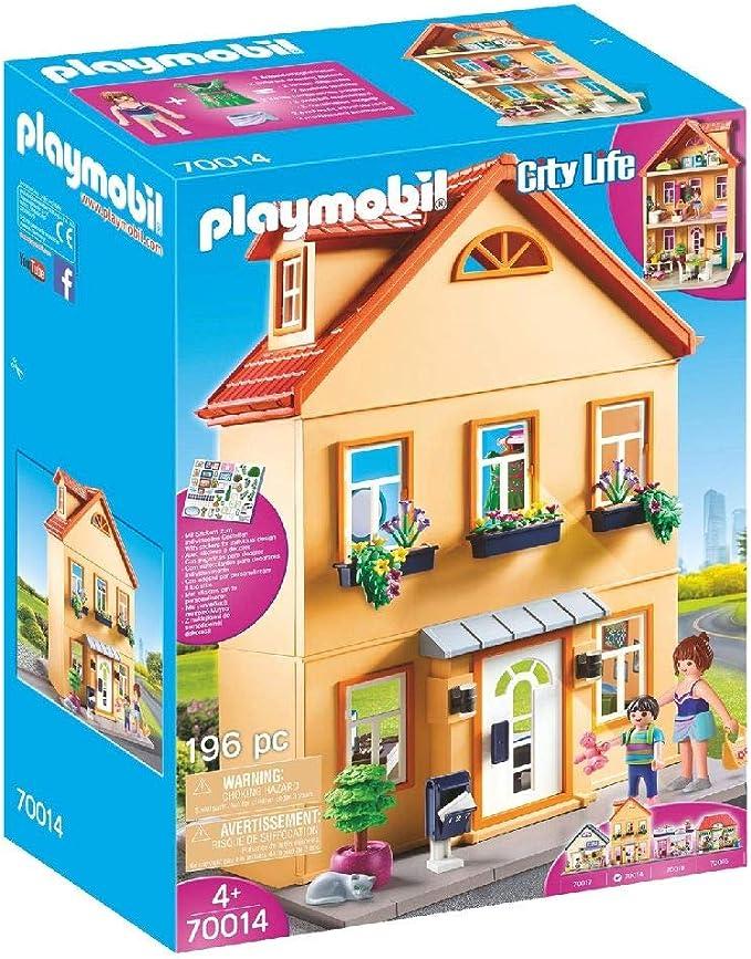 PLAYMOBIL City Life Mi Casa de Ciudad, A partir de 4 años (70014): Amazon.es: Juguetes y juegos