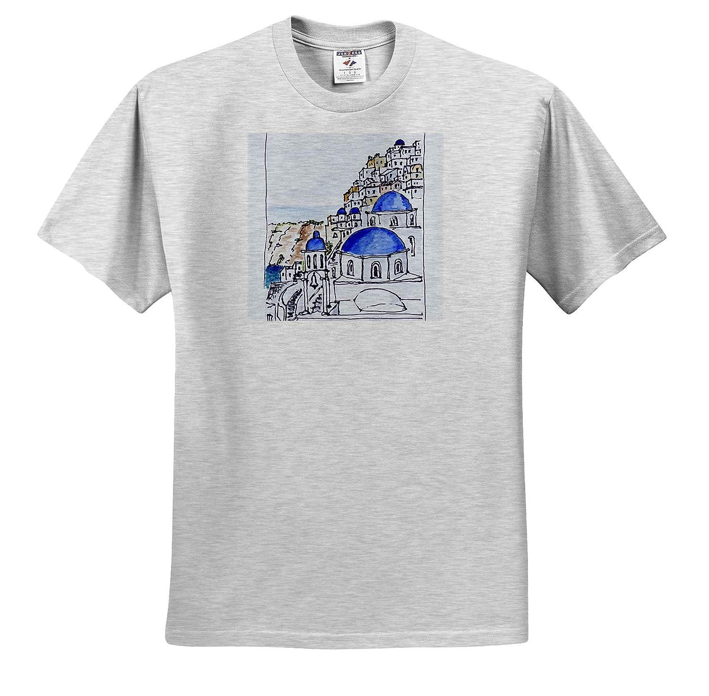 Traditional Architecture in Oia Adult T-Shirt XL Greece ts/_313620 Island of Santorini 3dRose Danita Delimont Greece