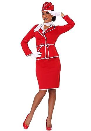 5a29002f47c Amazon.com: Women's First Class Flight Attendant Costume: Clothing
