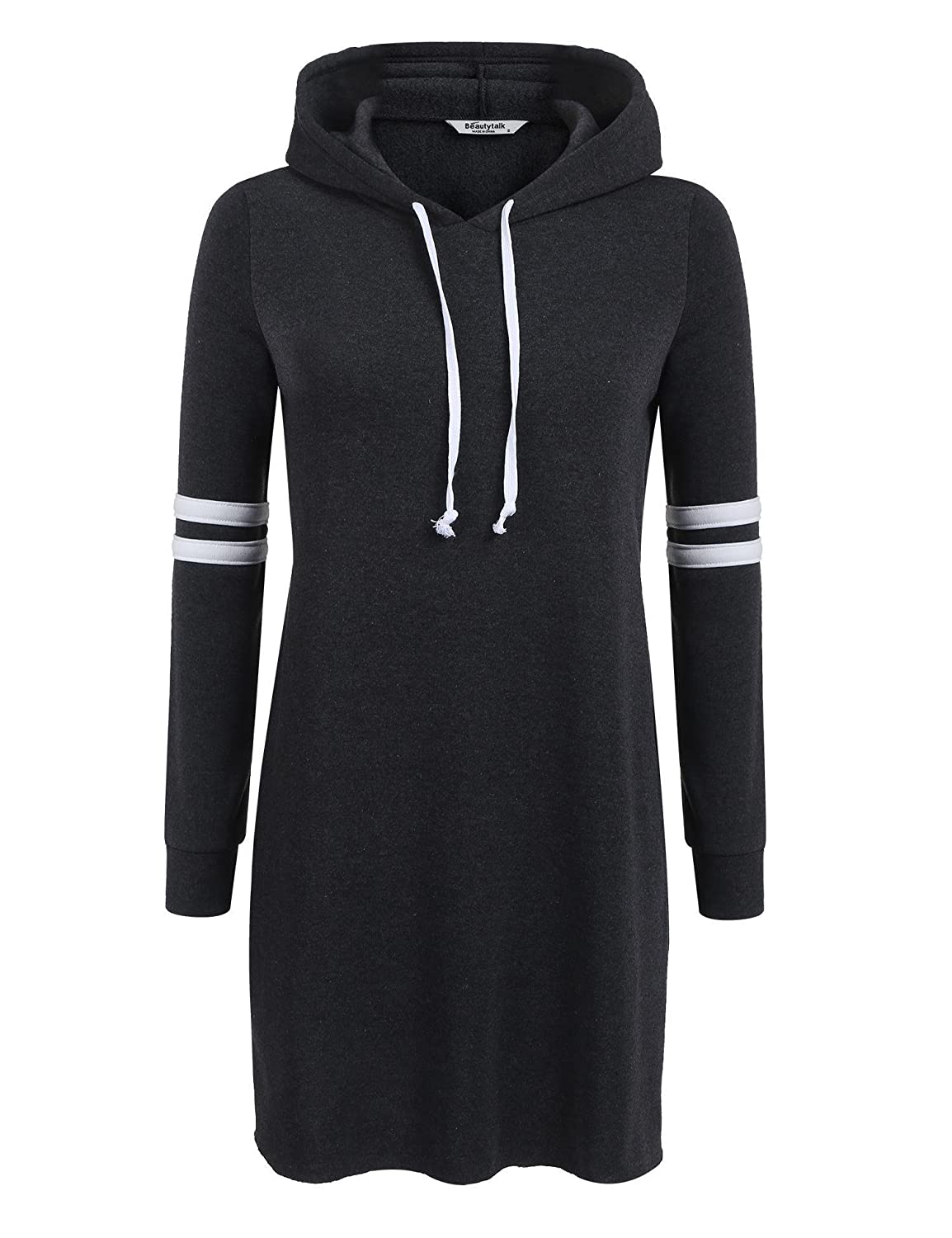 98798cb6a1 Features  Long sleeve knee length slim casual pullover hoodie dress. SUIT  FOR -- Running