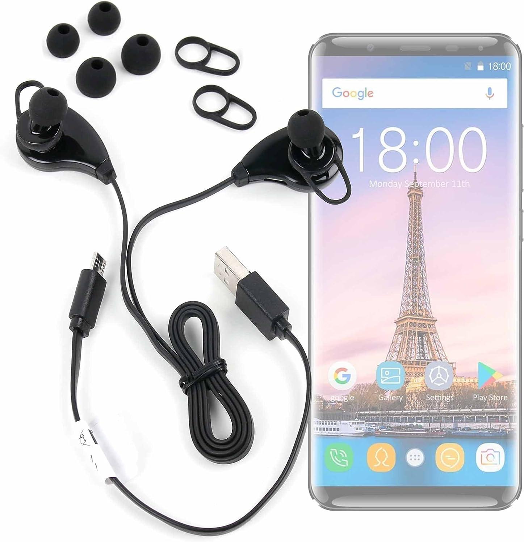 DURAGADGET Auriculares inalámbricos en Color Negro para Smartphone OUKITEL K5000: Amazon.es: Electrónica