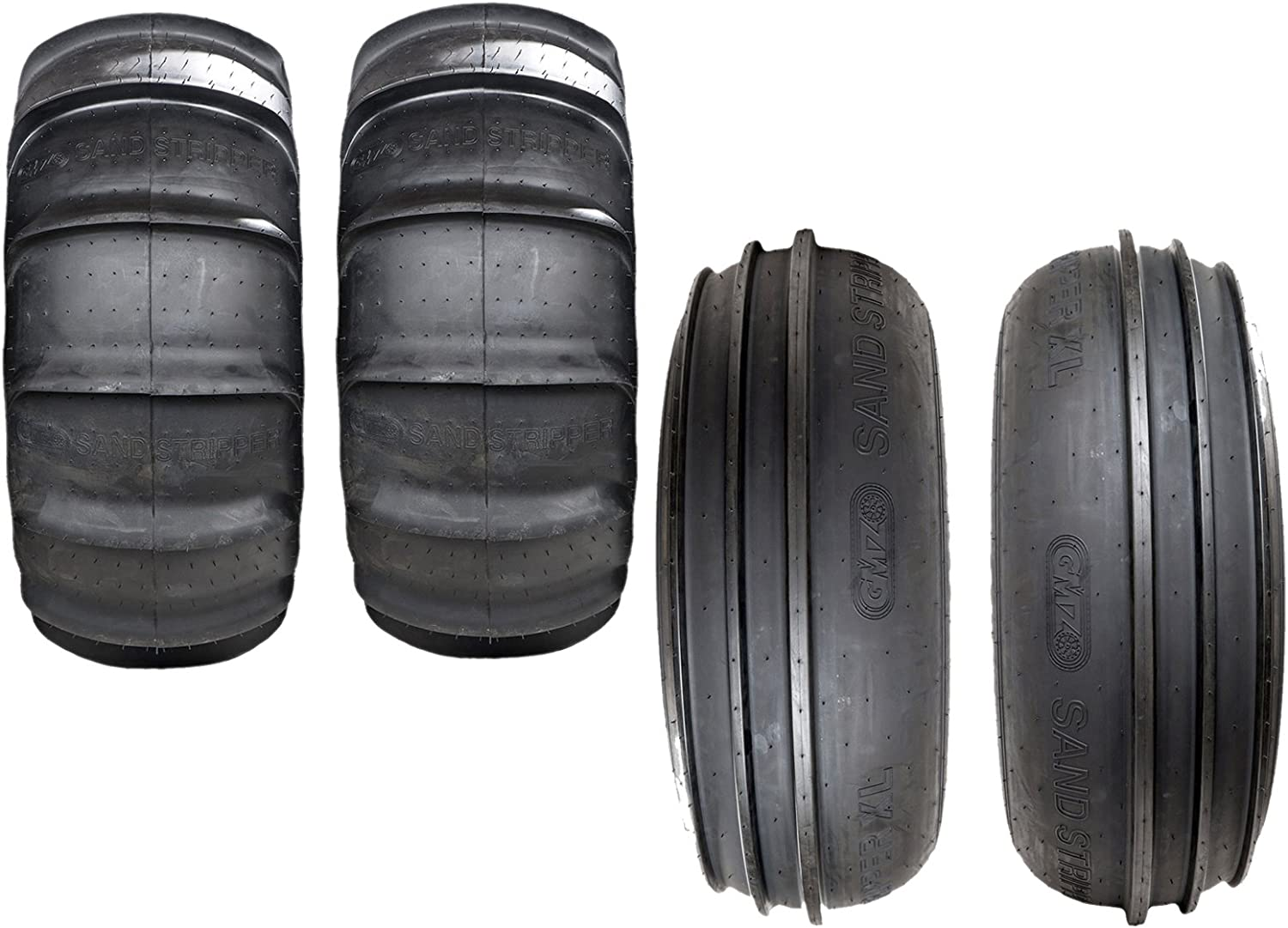 ATV Tires Pair of GMZ Sand Stripper Ribbed Front 2 28x12-14 6ply