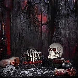 TOYMYTOY 2PCS Halloween Creepy Cloth Party Decor,Drape Doorways Entryways Windows Cover Gauze 6.6ft x 177