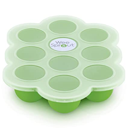 Silicone Baby Food Storage 7 Multi-Portions Freezer Container Blue NEW BPA Free