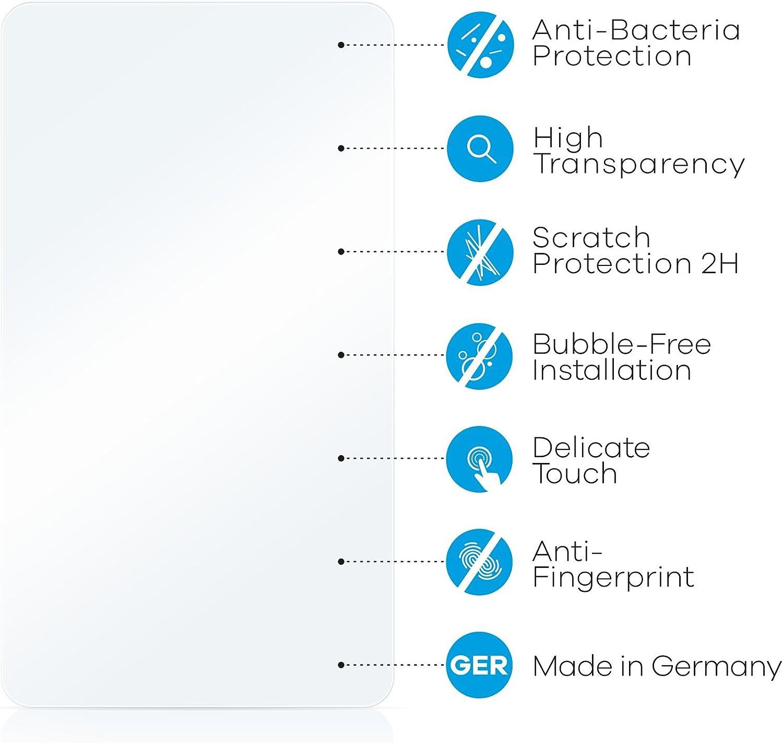 upscreen Antibakterielle Schutzfolie kompatibel mit Apple MacBook Pro Retina 15 2012 klare Displayschutz-Folie
