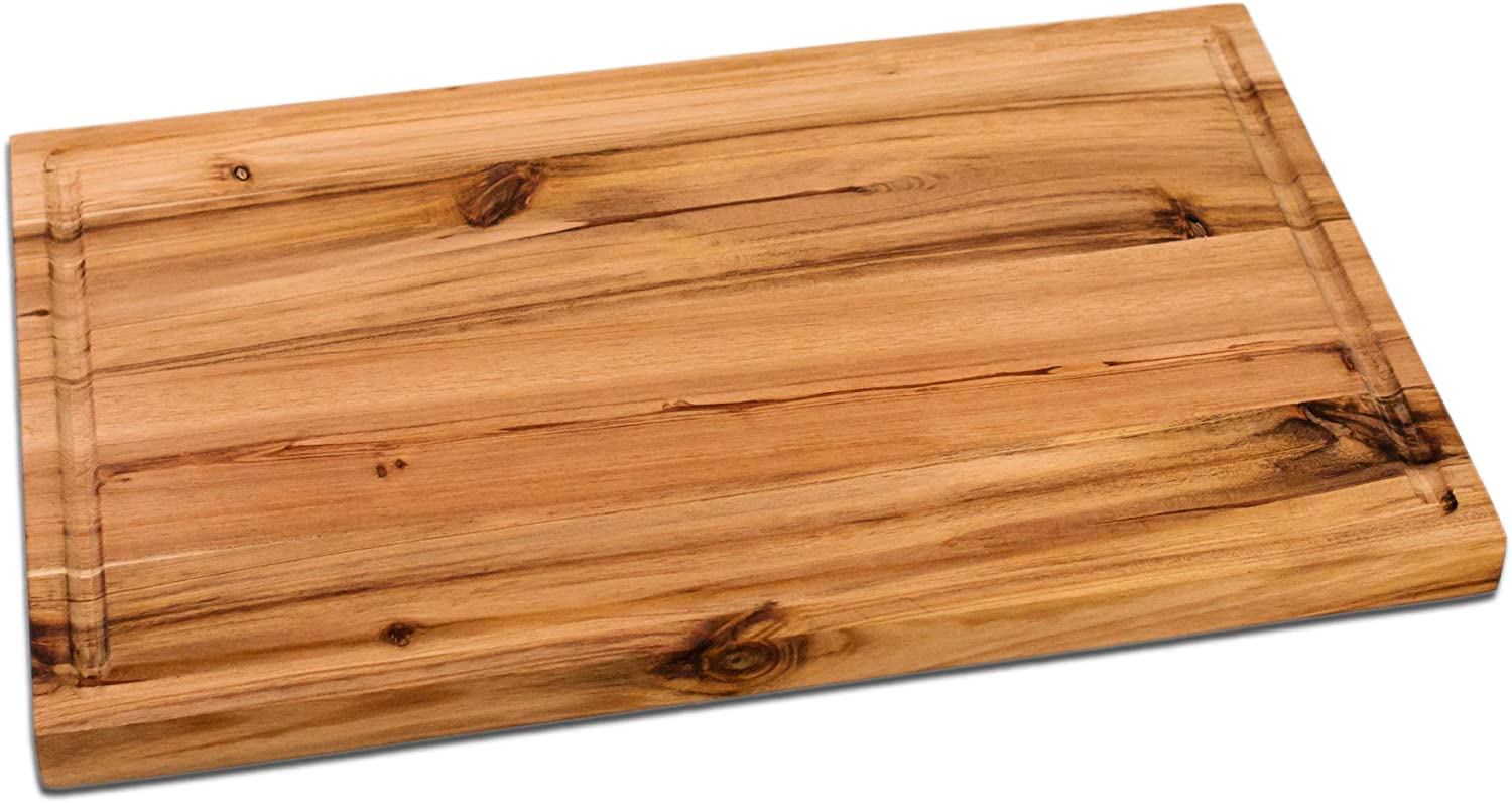 Avera Products | Handcrafted Wooden Cutting Board & Butcher Block with Juice Groove | Perfect for Meats, Cheese, & Charcuterie