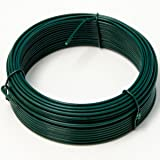 NIEDERBERG METALL rouleau de Fil Métallique enduit de PVC 25 m de long métal revêtu de plastique Ø2mm | Vert