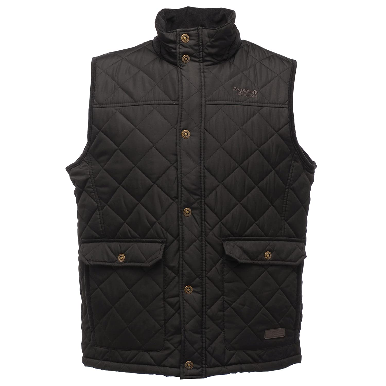 4d14835cf0e Regatta Great Outdoors Mens Heritage Rigby Quilted Bodywarmer (XXXXL) (Black)   Amazon.co.uk  Clothing