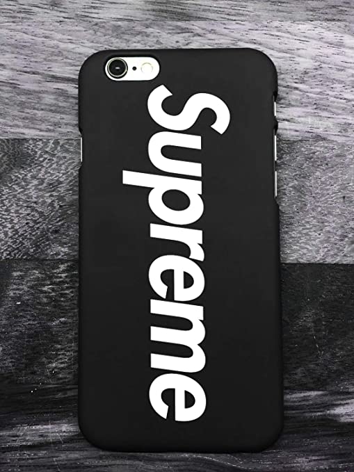 most popular get new popular brand WRAP? Supreme Logo iPhone 6/6S Coque, Hot Supreme Logo Hard Plastic Phone  Housse Coque for Apple iPhone 6/6S (Noir)