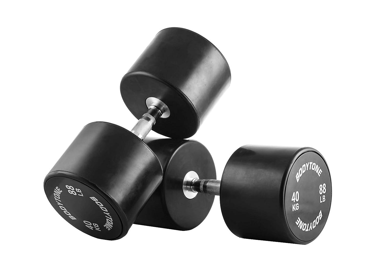 BT BODYTONE Mancuernas de Goma/Rubber Dumbbells 40 kg (par/Pair ...